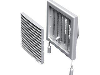 Как установить пластиковые вентиляционные решетки