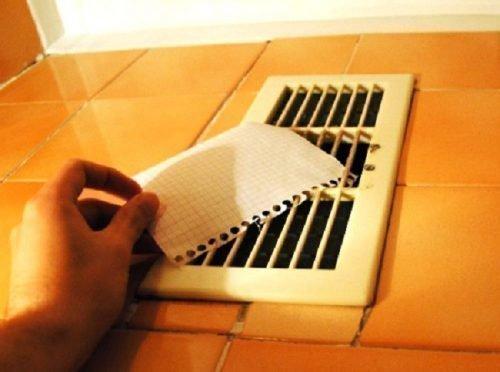 Проверка обратной тяги бумагой