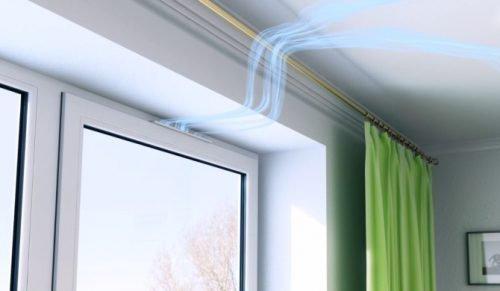 Вентиляционный клапан для пластиковых окон