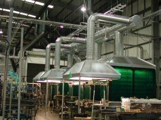 Устройство промышленной вентиляции