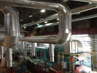 Установка вентиляции в производственных помещениях